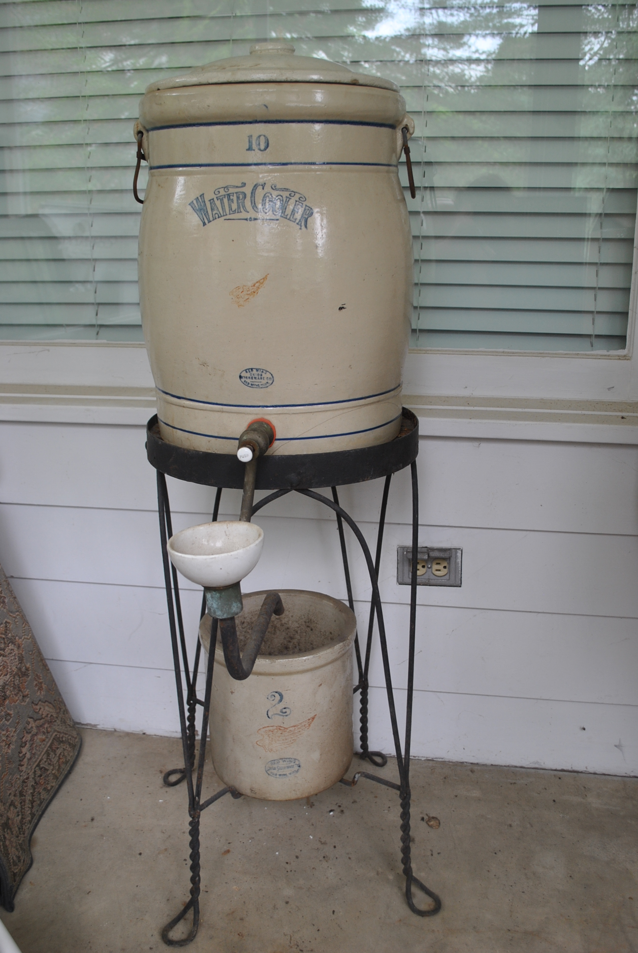 10 Gal Rw Water Cooler And Crock Set Red Wing Collectors