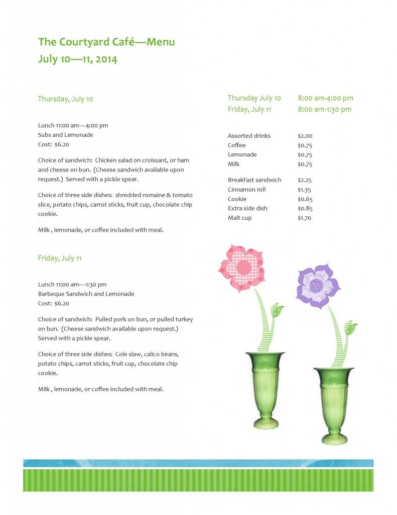 CON14 Food menu