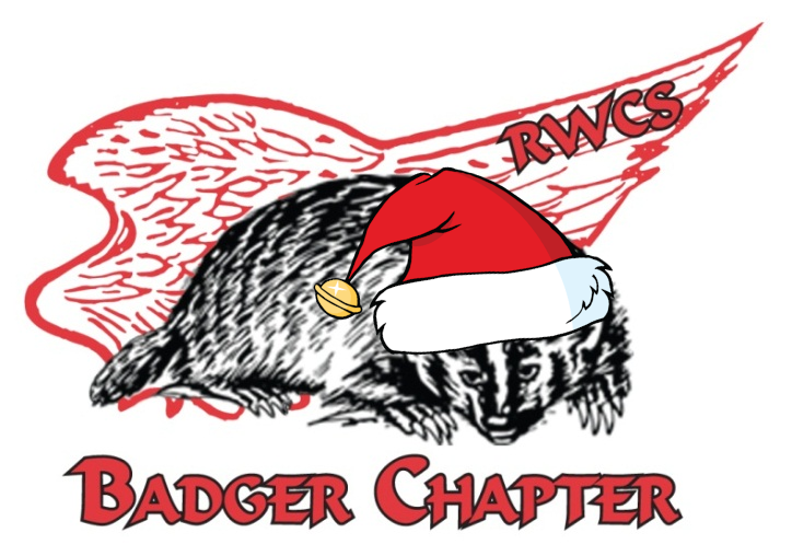 badger logo with santa hat2