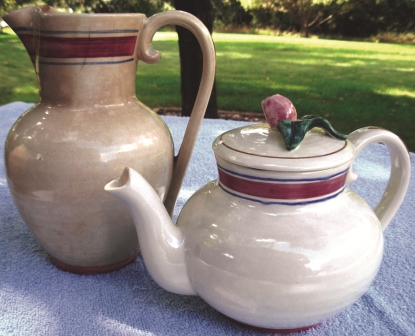 early normandy pitcher & teapot