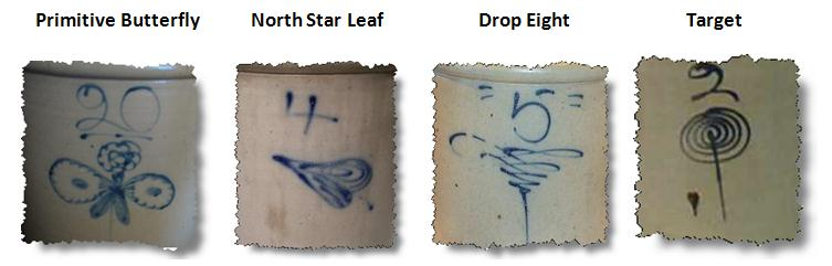 grouping of salt glaze marks